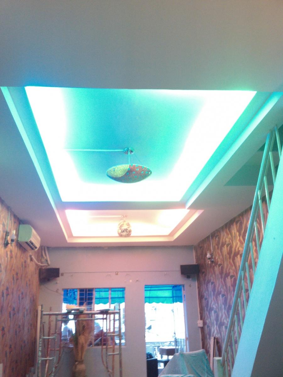 Thiết kế thi công trần thạch cao quán cafe TK04