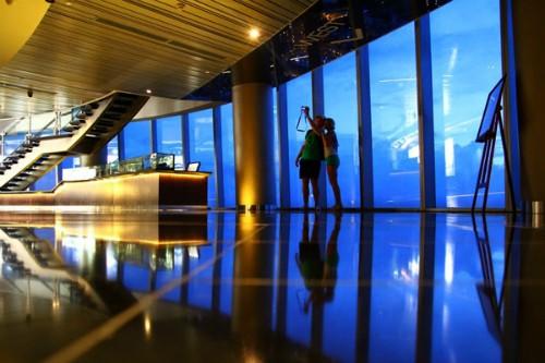 Skydeck Coffee nằm trên tầng 50 của tòa nhà Bitexco, nơi dành cho ngày lễ valentine.