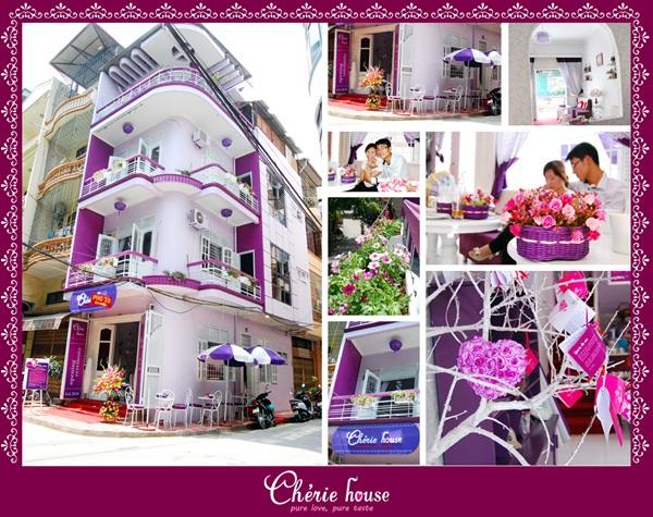 Cherie House, quán Cà phê Bánh xinh xắn ra đời với ý tưởng là một ngôi nhà yêu thương.
