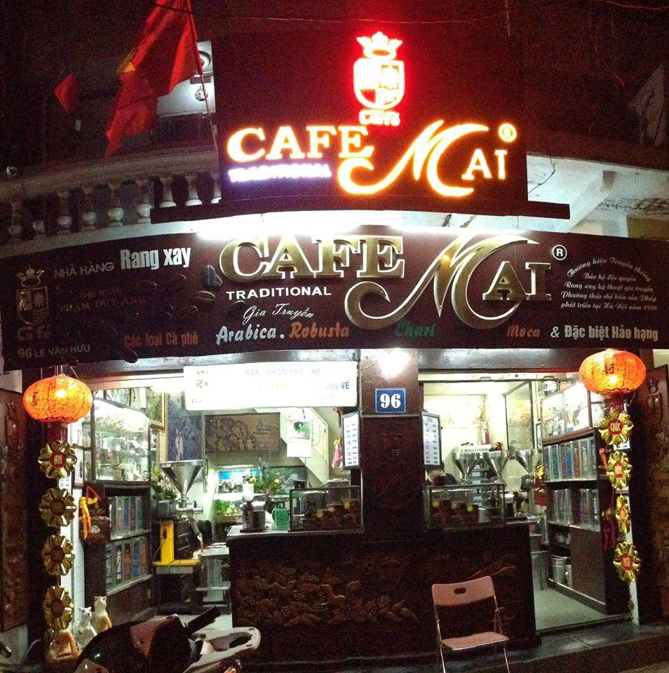 Cafe Mai, cà phê chính hiệu của những vùng cà phê nổi tiếng.