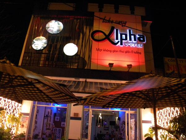 Cafe Anpha, một không gian thư giản lý tưởng